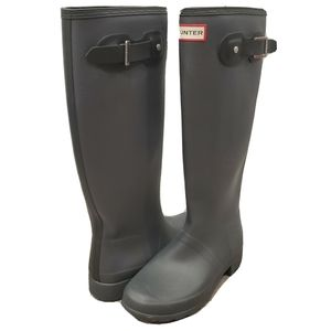 NEW Hunter Refined Contrast Tall Gray Black Boots